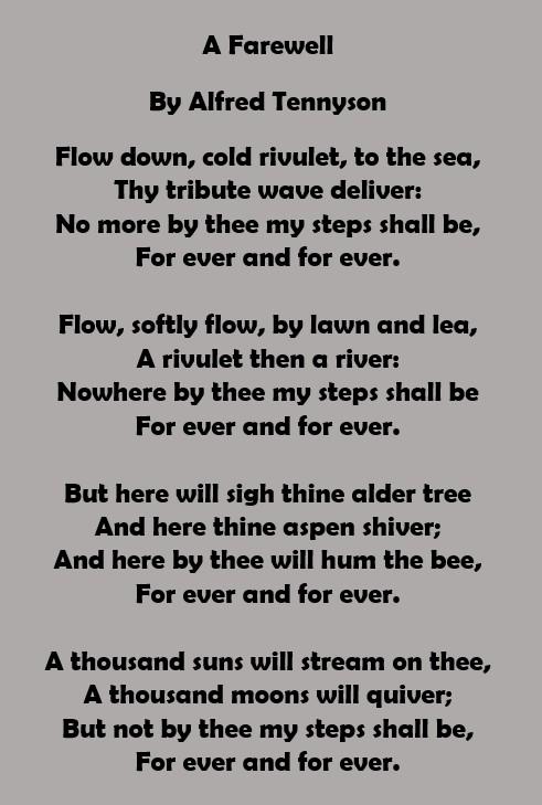 Poems Of Alfred Tennyson Poemas En Inglés