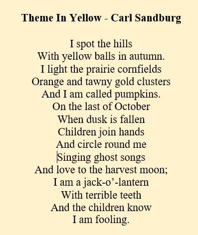 Poems Of Carl Sandburg Poemas En Inglés