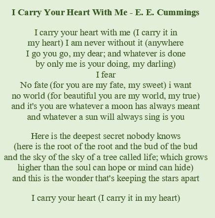 Poems Of Edward Estlin Cummings Poemas En Inglés