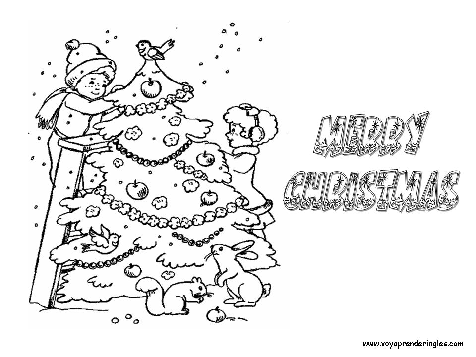 Christmas Tree Decoration - Dibujos Navidad en Inglés