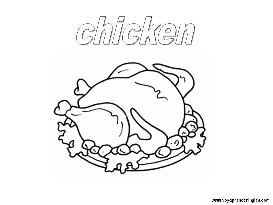 Coloring Pages Foods - Dibujos Alimentos | Coloring Pages - Láminas ...