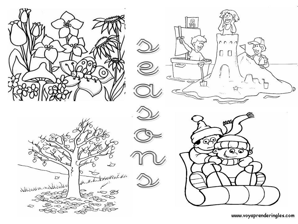 Seasons - Dibujos Estaciones del Año en Inglés