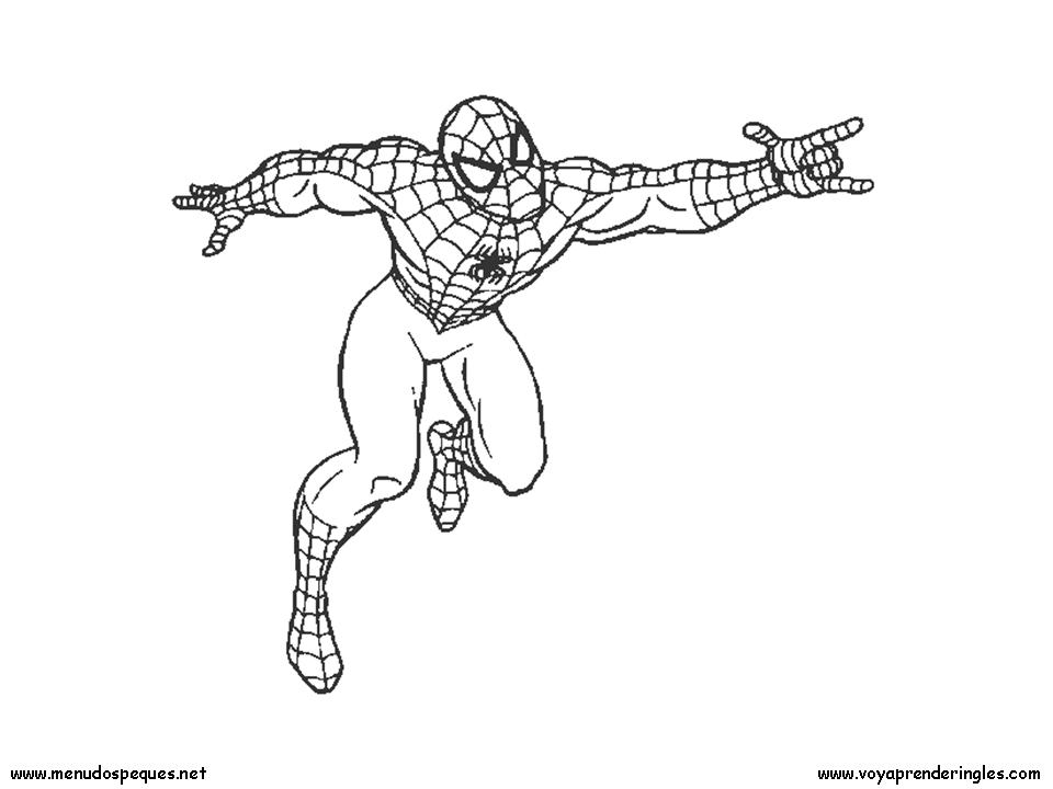 Spiderman 02 - Dibujos Spiderman para Colorear en Inglés