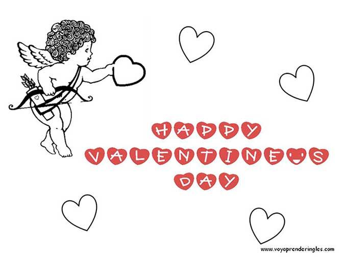 Valentine\'s Day 02 - Dibujos San Valentín Colorear en Inglés