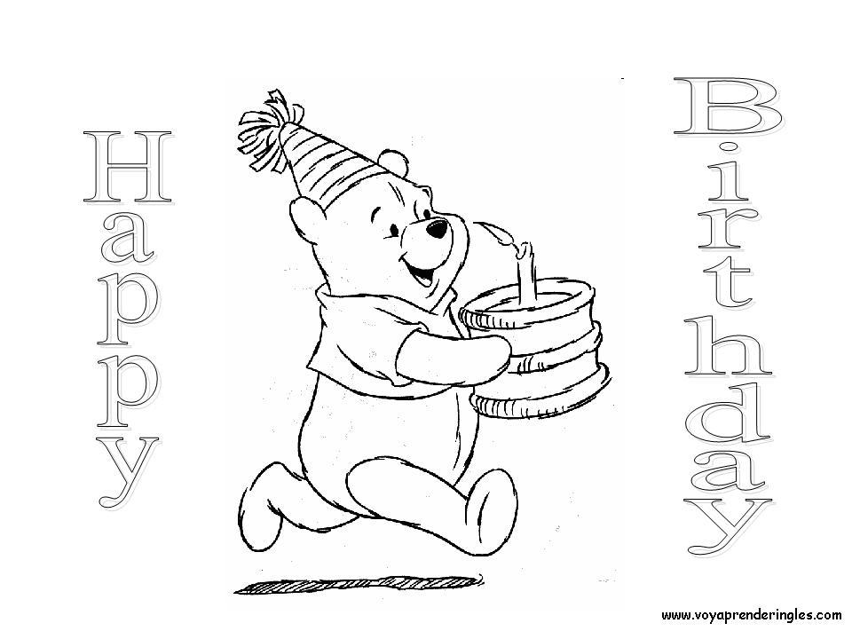 Lujo Tarjetas De Feliz Cumpleaños Para Imprimir Y Colorear Galería ...
