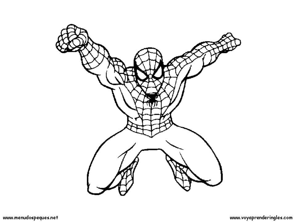 Spiderman 03 - Dibujos Spiderman para Colorear en Inglés