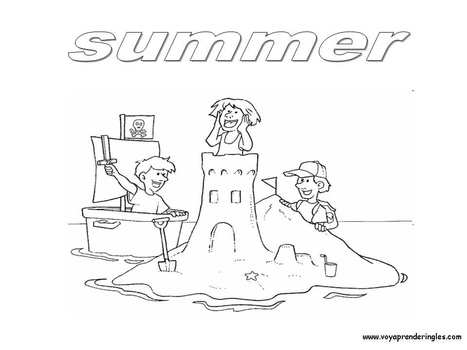 Summer - Dibujos Estaciones del Año en Inglés