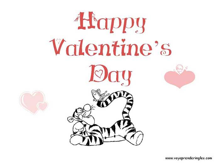 Valentine\'s Day 03 - Dibujos San Valentín Colorear en Inglés