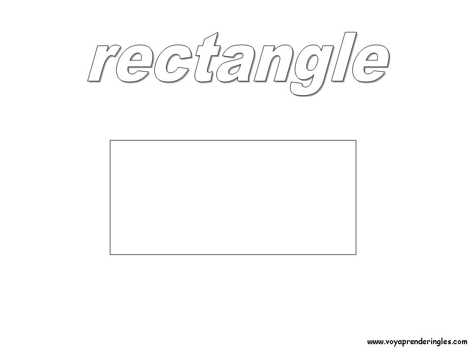 Rectangle - Dibujos Formas Geométricas para Colorear en Inglés