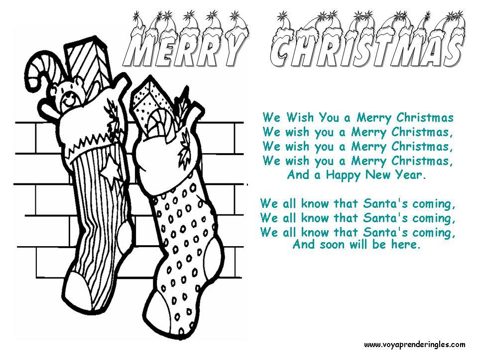 We Wish You A Merry Christmas Dibujos Navidad En Inglés