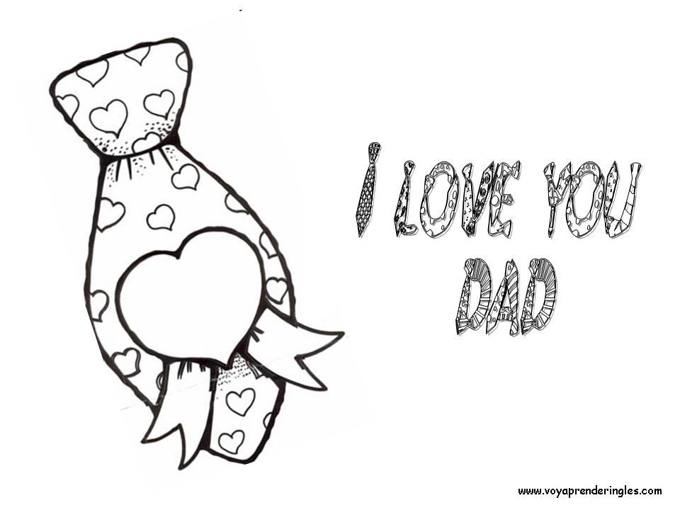 Happy Fathers Day Tie Dibujos Día Padre En Inglés
