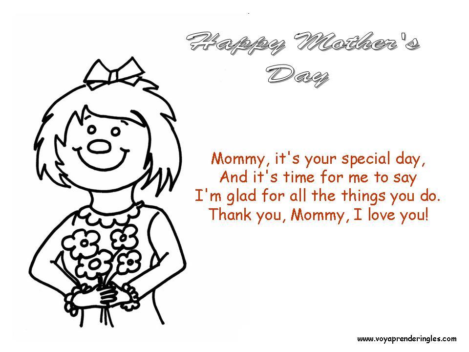 Happy Mother\'s Day - Dibujos día Madre en Inglés