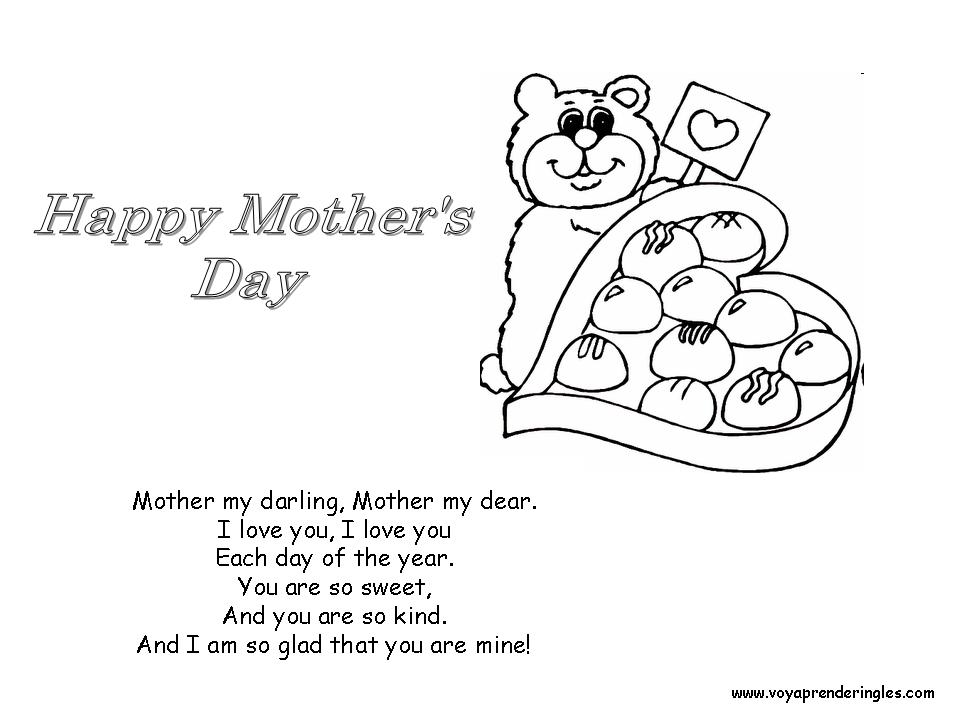 Happy Mother's Day - Chocolate - Dibujos día Madre en Inglés
