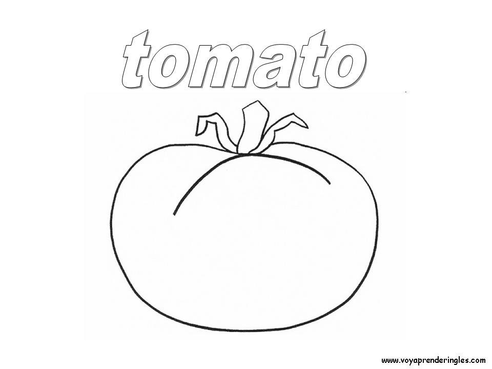 Tomato Foods Dibujos Alimentos Colorear En Inglés