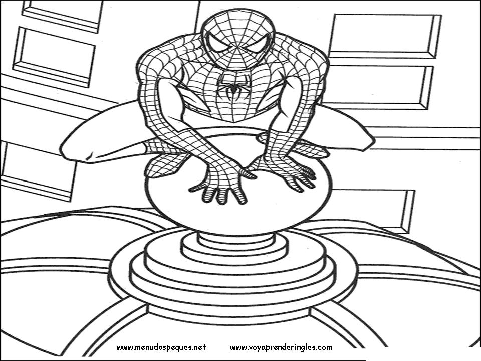 Spiderman 08 - Dibujos Spiderman para Colorear en Inglés