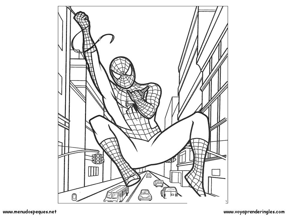Spiderman 10 - Dibujos Spiderman para Colorear en Inglés