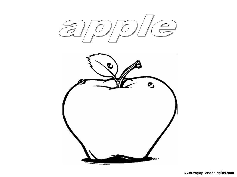 Apple Foods Dibujos Alimentos Colorear En Inglés