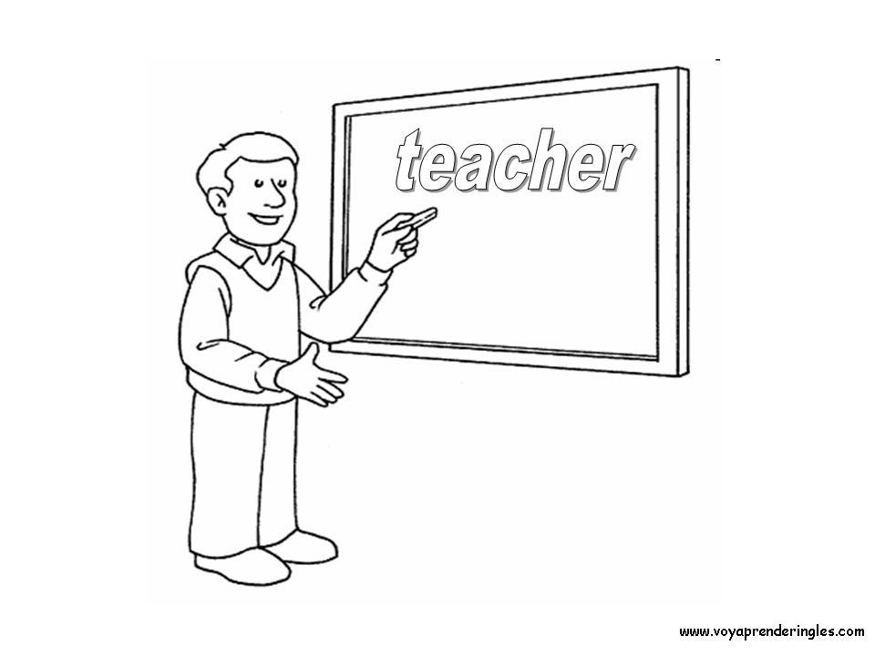 Teacher Dibujos Profesiones Para Colorear En Inglés