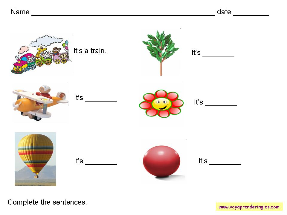 Worksheets Vocabulary 03 - Fichas en Inglés Vocabulario