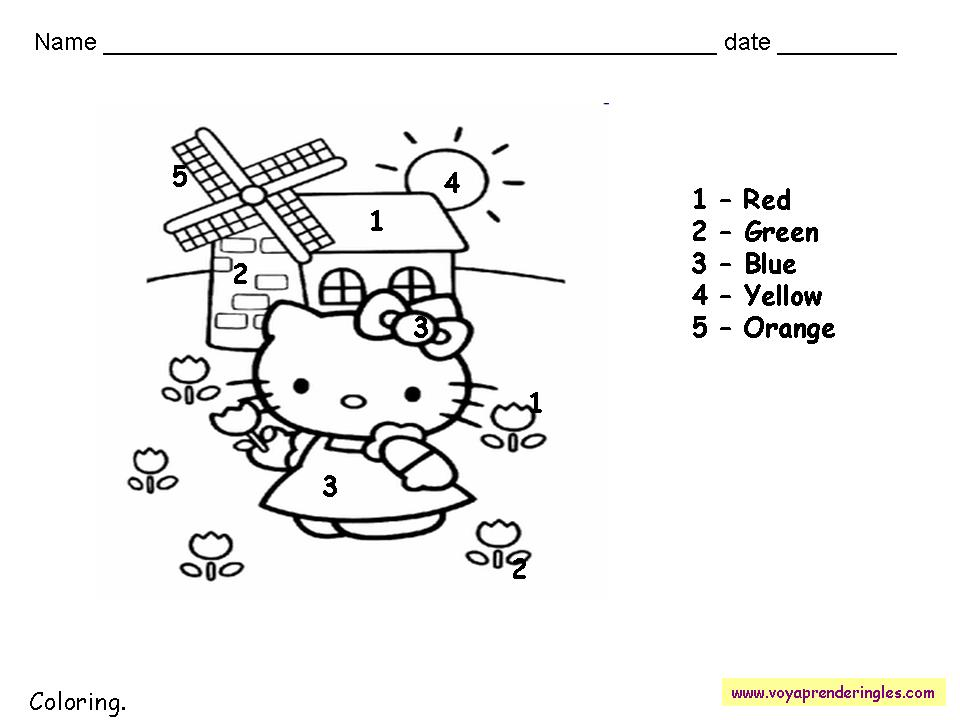 Worksheets The Colors 08 - Fichas en Inglés los Colores