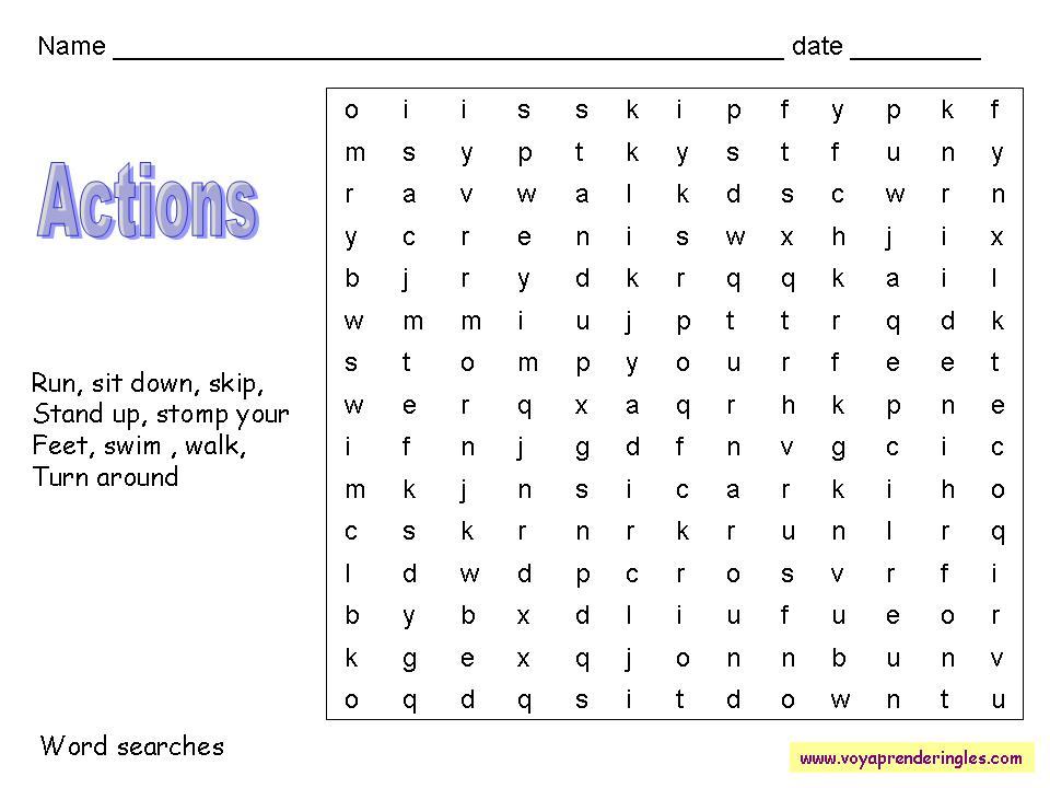Worksheets Wordsearches 16 Sopas De Letras En Inglés