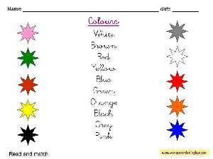 Worksheets The Colors 01 - Fichas en Inglés los Colores
