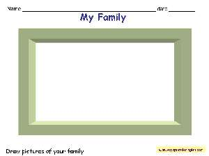 Worksheets The Family 01 - Fichas la Familia en Inglés