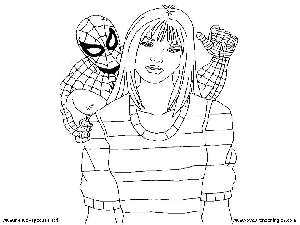 Spiderman 01 - Dibujos Spiderman para Colorear en Inglés