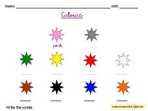 Worksheets The Colors 02 - Fichas en Inglés los Colores