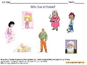 Worksheets Family Fichas En Inglés La Familia Fichas Infantiles