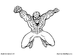 Spiderman 03 - Dibujos Spiderman para Colorear en Inglés