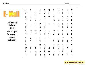 Worksheets Wordsearches 04 - Sopas de Letras en Inglés