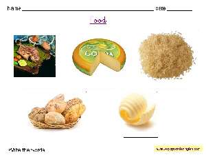 Worksheets Food 06 - Fichas en Inglés Alimentos