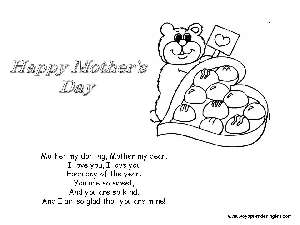 Coloring Pages Mothers Day Dibujos Día De La Madre Coloring