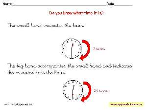 Worksheets The Clock 08 - Fichas Infantiles en Inglés el Reloj