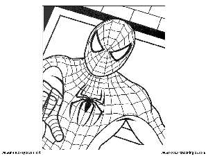 Spiderman 09 - Dibujos Spiderman para Colorear en Inglés