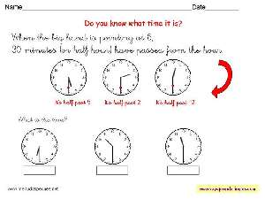 Worksheets The Clock 10 - Fichas Infantiles en Inglés el Reloj