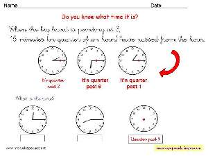 Worksheets The Clock 11 - Fichas Infantiles en Inglés el Reloj