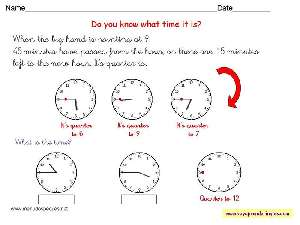 Worksheets The Clock 12 - Fichas Infantiles en Inglés el Reloj