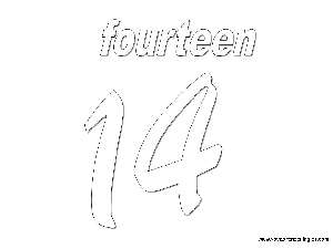 Fourteen Dibujos Los Números En Inglés