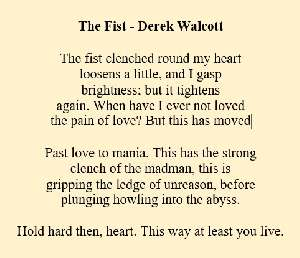 Poems Of Derek Walcott