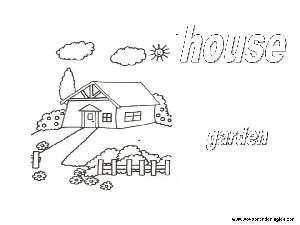 Coloring Pages The House Dibujos La Casa Coloring Pages